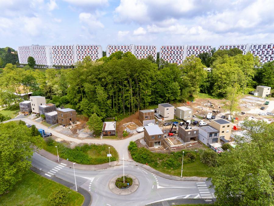 Visite de chantier du Hameau de Plantoun à Bayonne