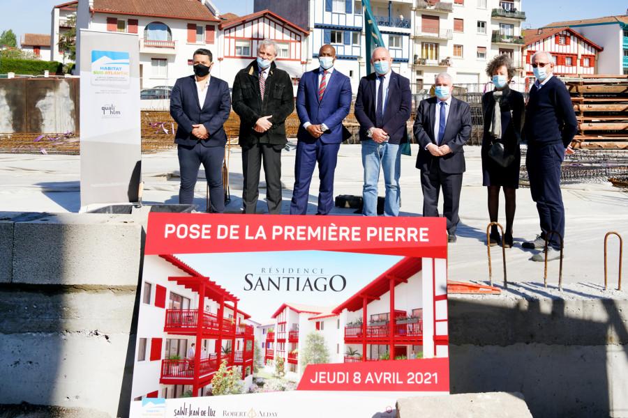 Pose de la première pierre de la résidence Santiago à Saint-Jean-de-Luz
