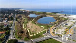 Photographie aérienne du Parc Izadia à Anglet